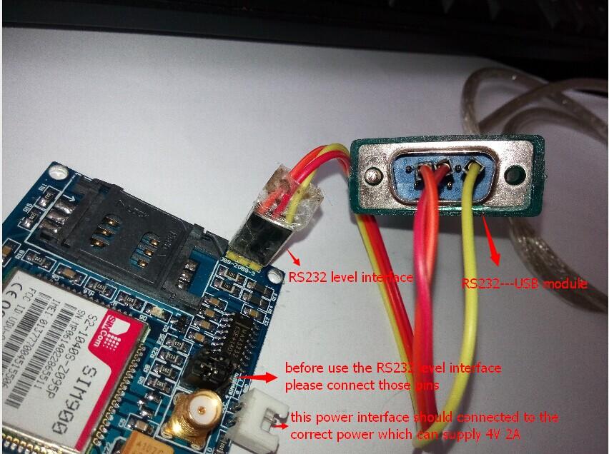 serial rs 232 sim 900 modul