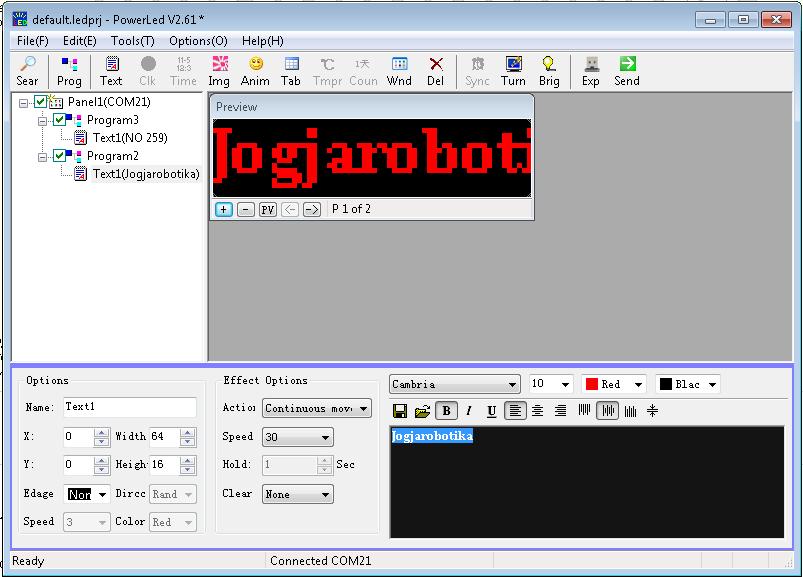 tampilan software